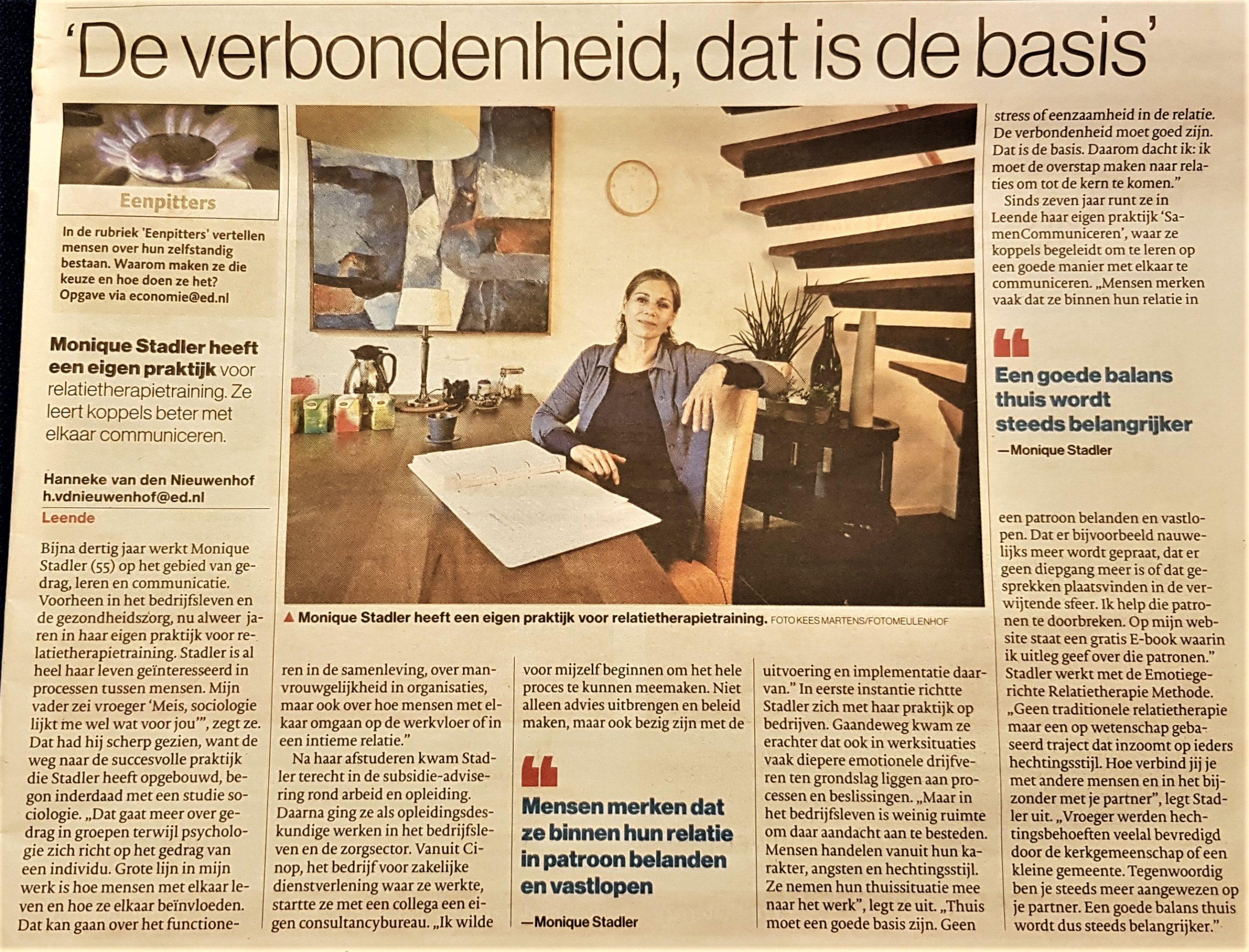 Publicatie Eindhovens Dagblad SamenCommuniceren